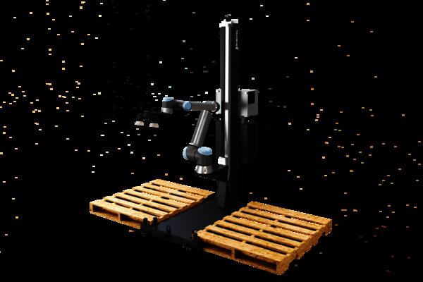 Robotiq Palettierlösung macht Fertigungslinien durch schnelles Einrichten und Umrüsten flexibler. Lässt sich an Ihre Bedürfnisse einfach anpassen.