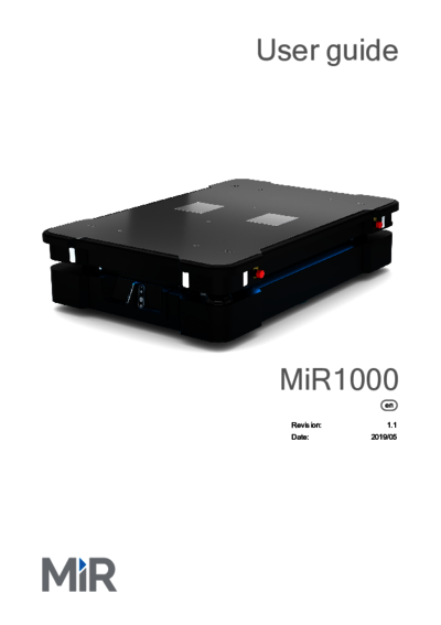 MiR1000 Betriebsanleitung