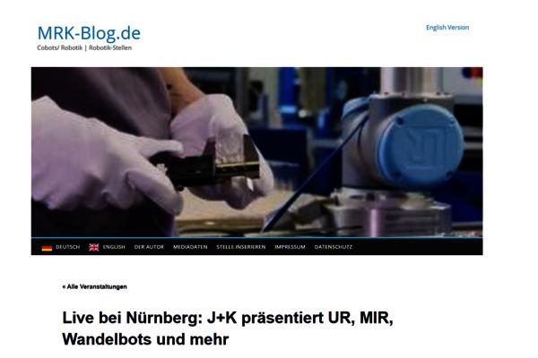 Im Juni 2021 berichtet der Fachblog MRK-Blog über die bevorstehenden Robotertage in Altdorf mit Universal Robots, Mobile Industrial Robots, Global AGV, etc.