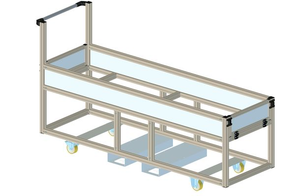 Individuelle Regale und Transportwagen aus Aluminiumprofil vom Experten. ✓Hochwertig ✓Schnell lieferbar ✓Preisgünstig.