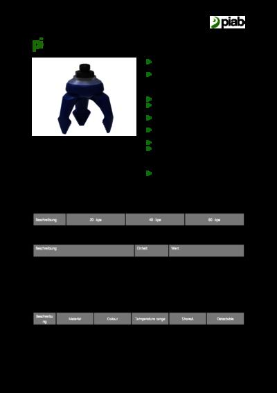 Datenblatt piSoftgrip