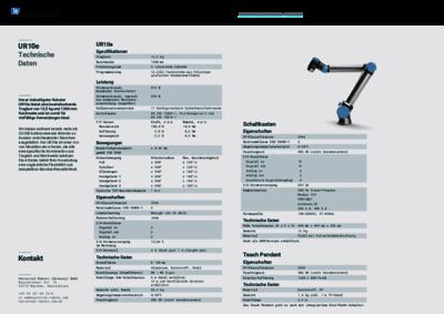 UR10e Technische Spezifikationen
