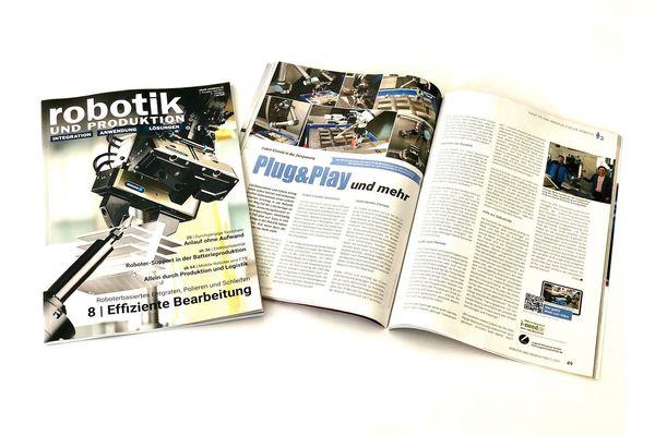 Im Juni 2021 berichtet das Fachmagazin Robotik und Produktion über den Einsatz von Universal Robots Cobots in der Zerspanung.