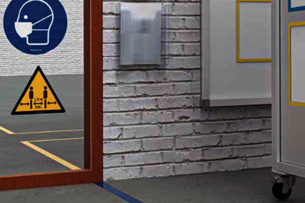 Mit den Lean 4.0 Aufklebern lassen sich Schutzmaßnahmen an Türen und Wänden einfach visualisieren. ✓ In vielen Ausführungen ✓ Sofort lieferbar.