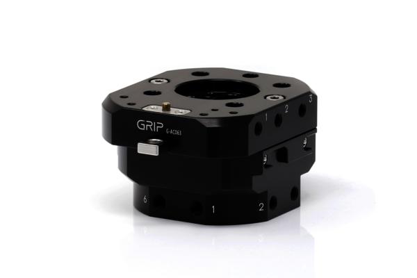 Mit dem automatischer Werkzeugwechsler von GRIP können Sie im Handumdrehen und ohne zusätzliche Hilfsmittel das Werkzeug Ihres Universal Robots tauschen.