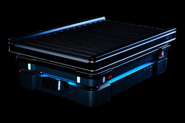 Das ROEQ Rollenförderer-Modul TR1000 für den mobilen Roboter MiR1000ist eine Ergänzung zuFörderanlagen.