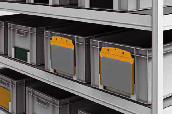 Lean 4.0 Behälterkennzeichnung: Kanban-Etikettenhalter, Hüllen und Sichttaschen mit flexiblen Befestigungsmöglichkeiten. Große Auswahl, schnell lieferbar.