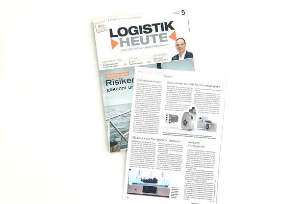 Im Mai 2021 berichtet das Fachmagazin Logistik Heute über das neue Sortiment Lean 4.0 Management zur perfekten Organisation der Intralogistik.
