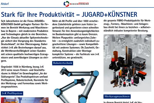 Im April 2019 berichtet die Regionalzeitung Der Bote ins einer Wirtschaftsbeilage über unseren Standort Altdorf.