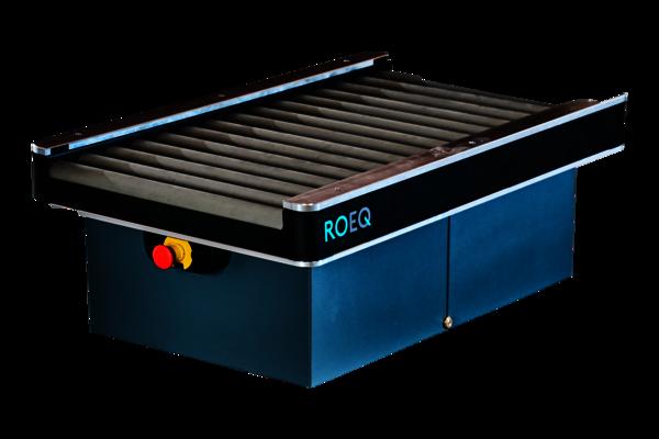 Das ROEQ Rollenförderer-Modul TR 125 für den mobilen Roboter MiR250ist eine Ergänzung zuFörderanlagen.