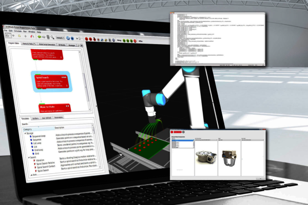 Die Artiminds Programming Suite ist vielfältig einsetzbar - intuitive Online- und Offline-Programmierung für UR3/UR5/UR10 Cobots von Universal Robots.