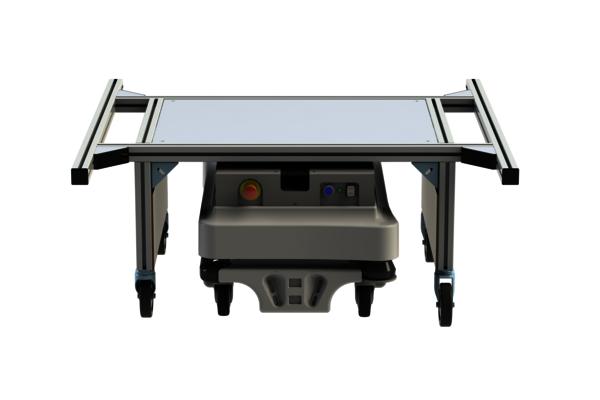 Der Regalträger iRAV - Shelf Carrier ist eine intelligente Regal-Andockvorrichtung für den Transportroboter FTS MiR100 und MiR200. Mehr dazu hier...