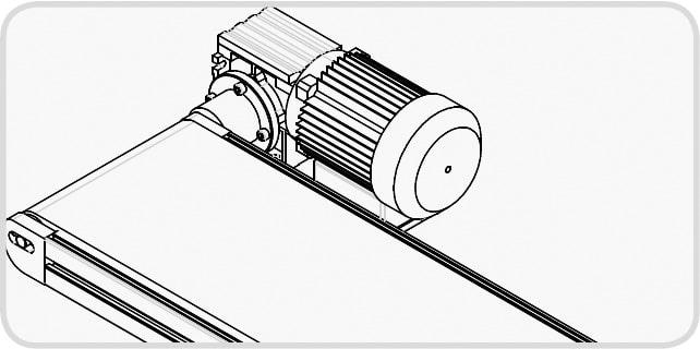 Elektrisches Förderband - Direkter Antrieb
