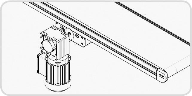 Elektrisches Förderband - Direkter Mittenantrieb