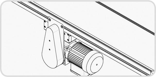Elektrisches Förderband - Indirekter Mittenantrieb