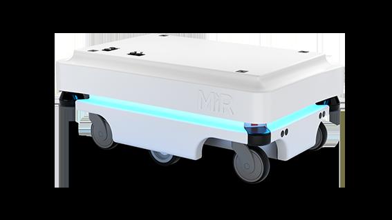Seitenansicht MiR100 Mobile Industrial Robots JUGARD+KÜNSTNER