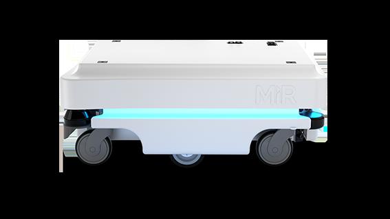 MiR100 Mobile Industrial Robots JUGARD+KÜNSTNER seitliche Ansicht