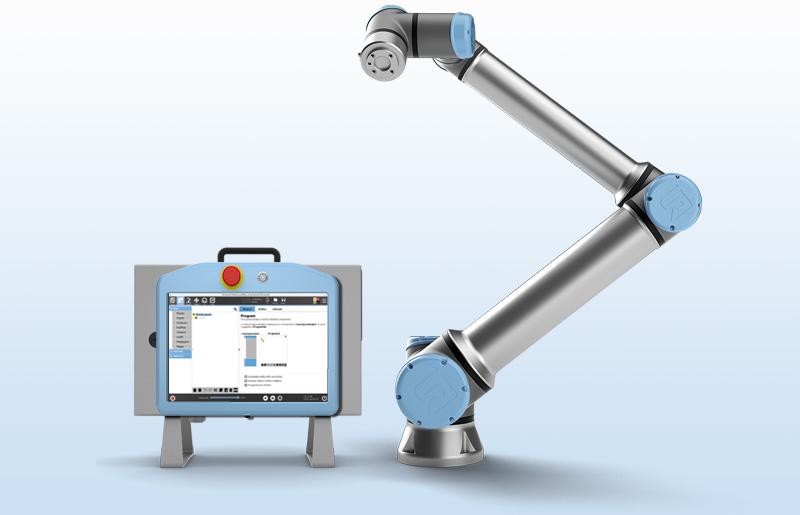 UR10 mit Controller und TeachPanel
