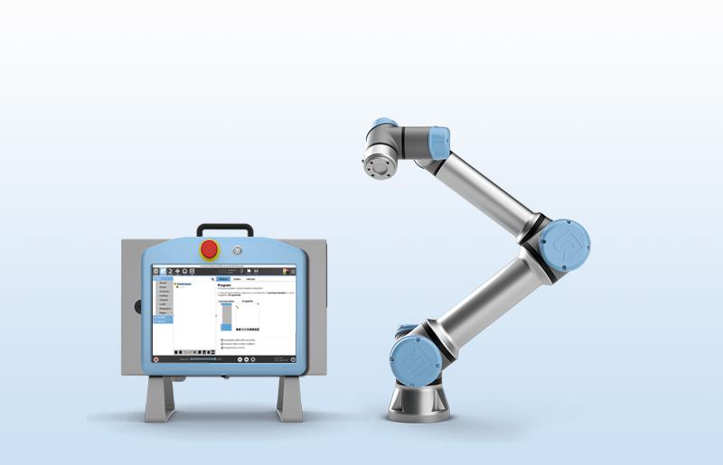 UR5 mit Controller und TeachPanel