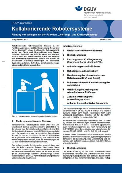 DGUV Kollaborierende Robotersysteme